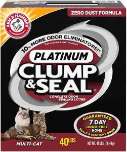 ARM & HAMMER Clump & Seal Platinum Cat Litter