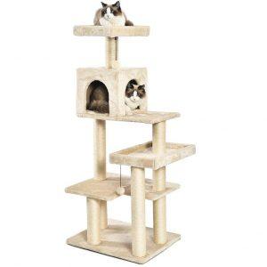AmazonBasics Multi-Level Cat Tree Best Cat Tree For Large Cat
